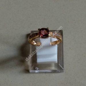 Batu Red Tourmaline Cincin Untuk Wanita